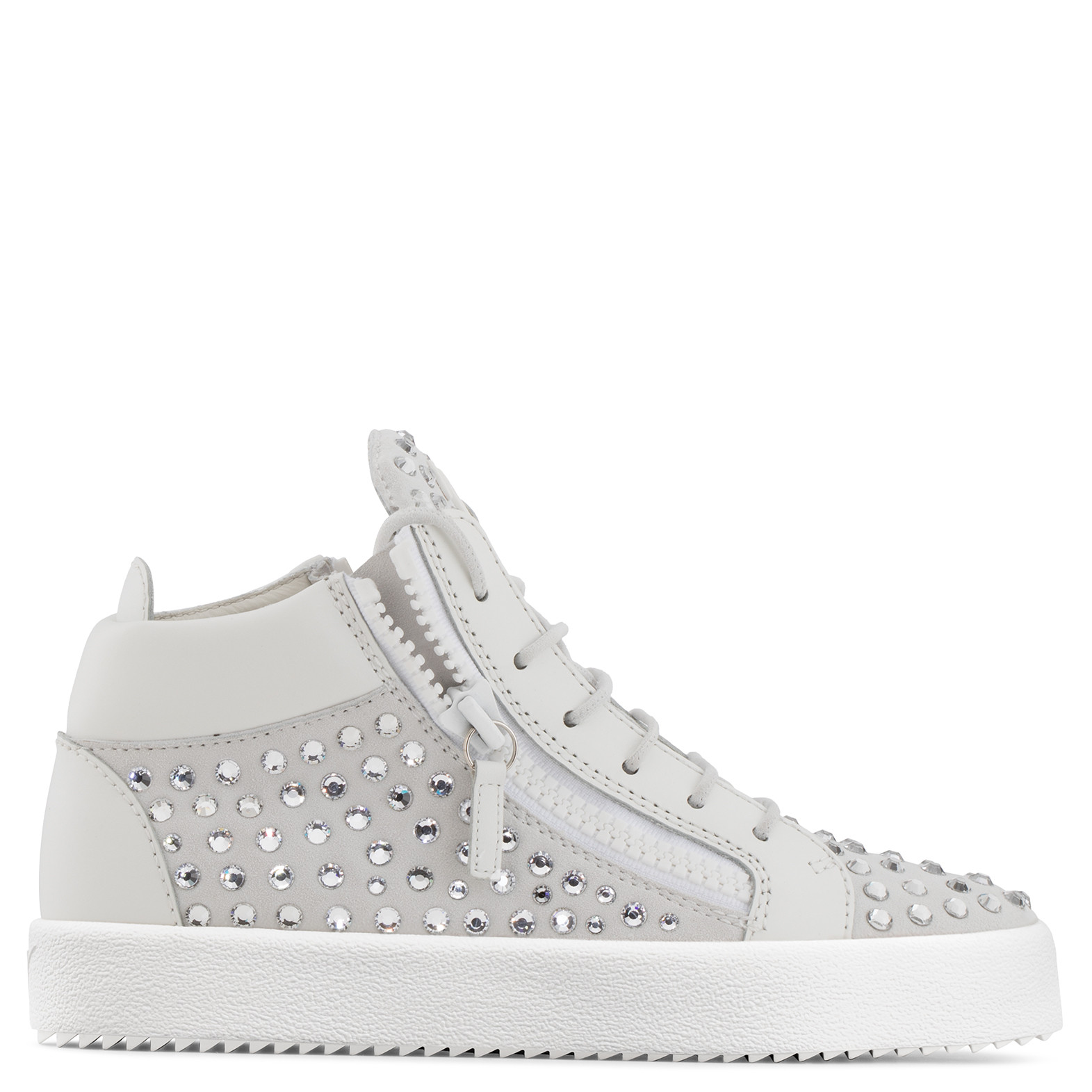 Giuseppe Zanotti Suede mid-top sneaker with crystals DORIS To75q6K5G