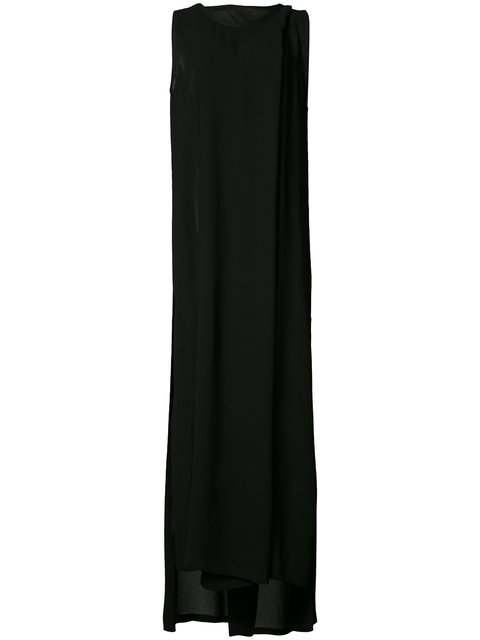ANN DEMEULEMEESTER SLIT LEG EVENING DRESS