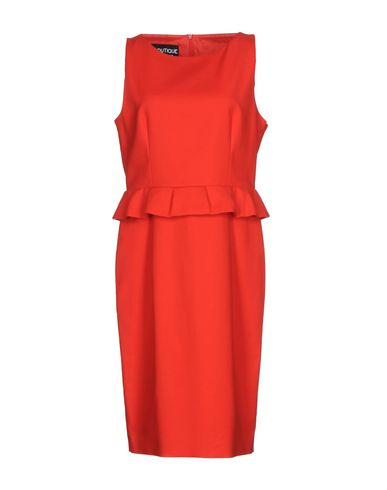 BOUTIQUE MOSCHINO KNEE-LENGTH DRESS, RED