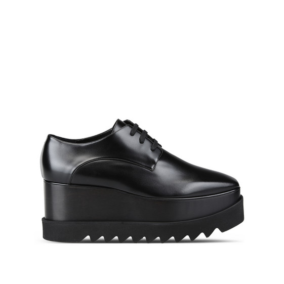 Elyse Total Faux-Leather Derby Shoes in Black