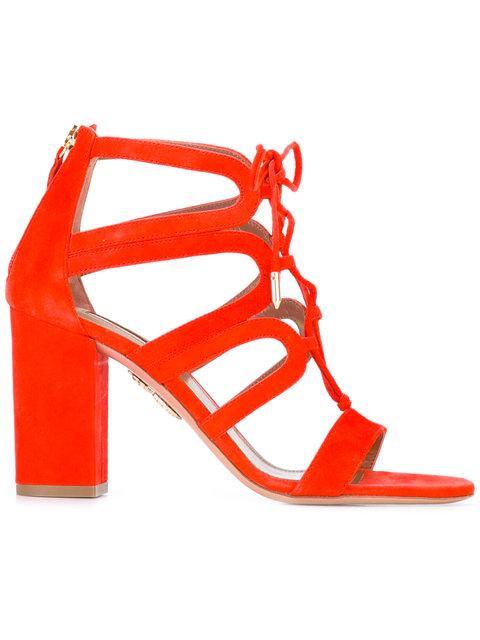 Aquazzura Holli Sandals - Red