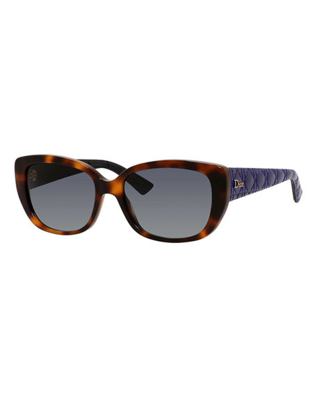 8f0c27323e DIOR LADY 55MM CAT EYE SUNGLASSES - HAVANA  BLUE ...