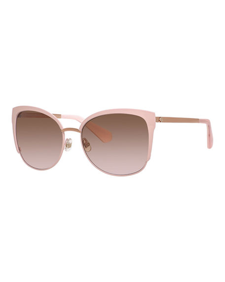 5d4112e69c KATE SPADE  GENICE  57MM CAT-EYE SUNGLASSES - PINK  GOLD