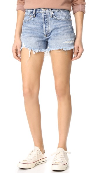 Agolde Parker Vintage Loose Fit Cutoff Shorts, Swapmeet