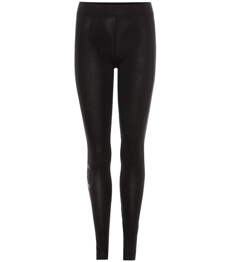 Y-3 COTTON LEGGINGS, LLACK