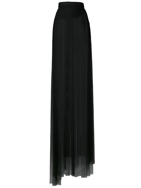 Ann Demeulemeester Tulle Long Skirt - Black