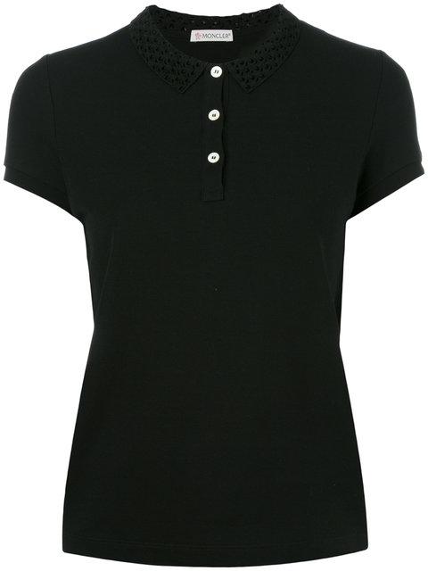 Moncler Cut Out Collar Polo Shirt