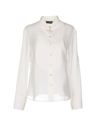 Emporio Armani Silk Shirts & Blouses In Ivory