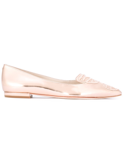 SOPHIA WEBSTER Pointed Toe Slippers - Metallic