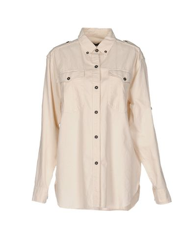ISABEL MARANT SOLID COLOUR SHIRTS & BLOUSES, BEIGE