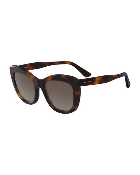 ETRO SQUARE ACETATE SUNGLASSES, BROWN