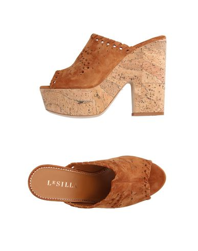 LE SILLA Slip On Wedges  in Brown