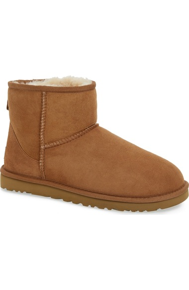 UGG Classic Mini Suede Boots in Chestnut