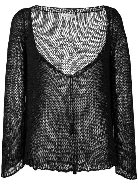Etro Tassel Detail Deep-V Jumper - Black