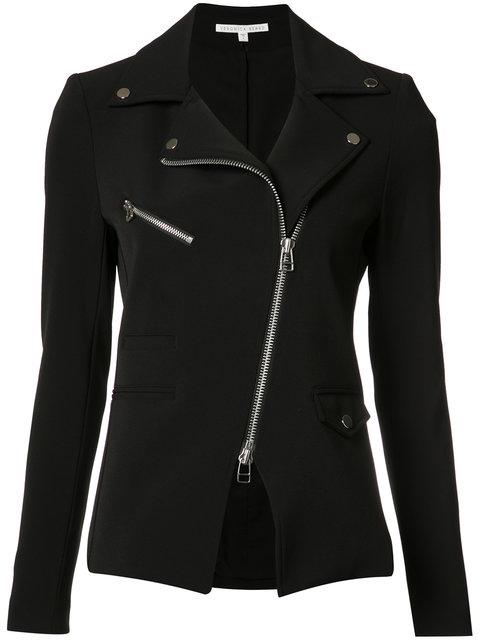 Hadley Zip-Front Scuba Jacket in Black