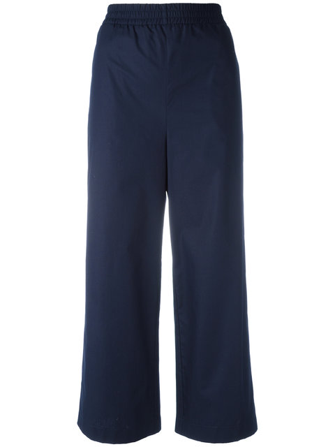I'M Isola Marras Cropped Trousers - Blue