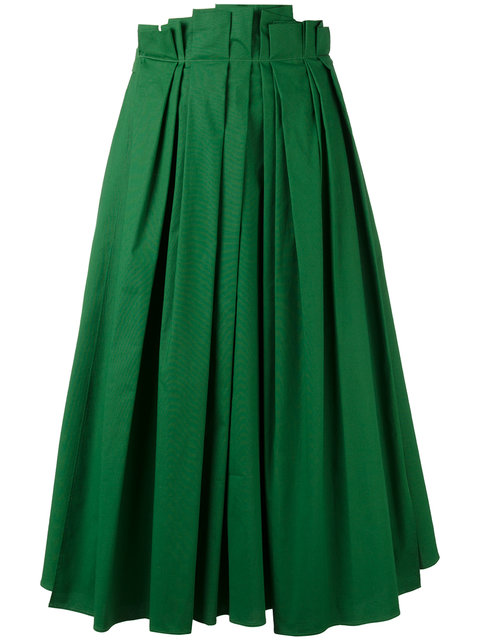 ROCHAS Full Pleated Midi Skirt