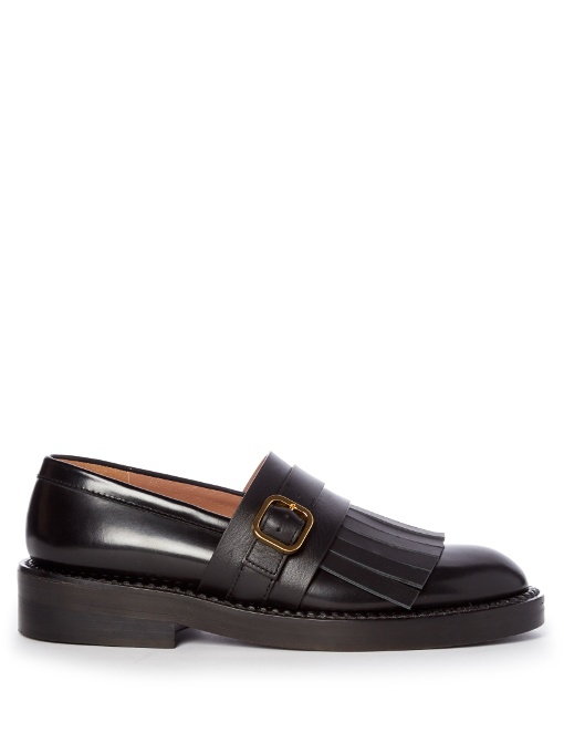 Women'S Fringed Leather Moccasins In Black, Additional Details Will Be Added When The Item Arrives In Stock