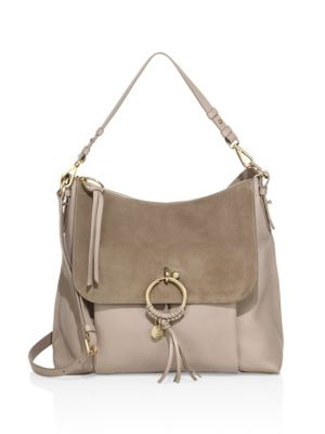 Joan Large leather shoulder bag See By Chlo FHCp6Zh