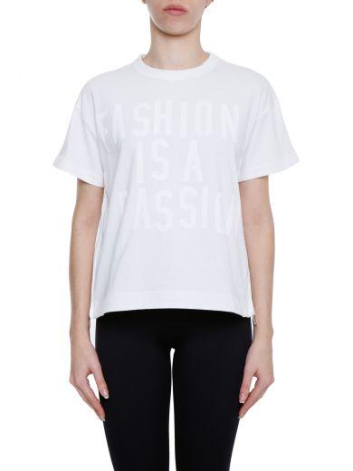 Sacai Slogan T-Shirt In White