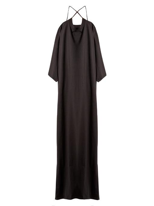 X Hanes logo-print cotton-jersey maxi dress VETEMENTS 60dYobOr