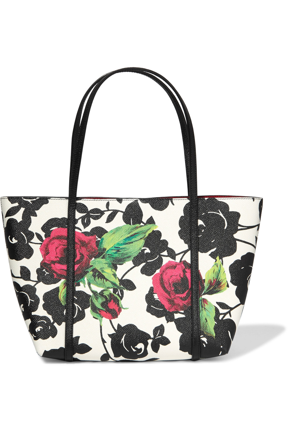 cf5872e3c7 Dolce   Gabbana Floral-Print Textured-Leather Tote
