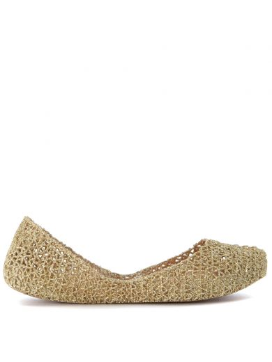 'Campana Papel Vii' Jelly Flat (Women) in Gold/ Spark