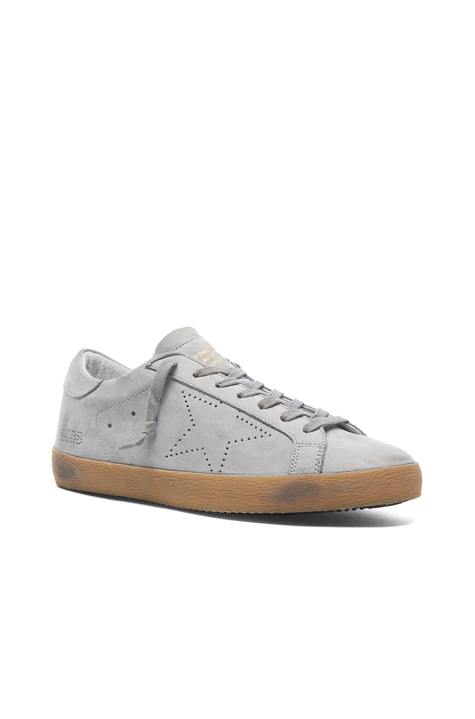 Golden Goose& Grey Perforated Skate Superstar Sneakers RAbWu6p