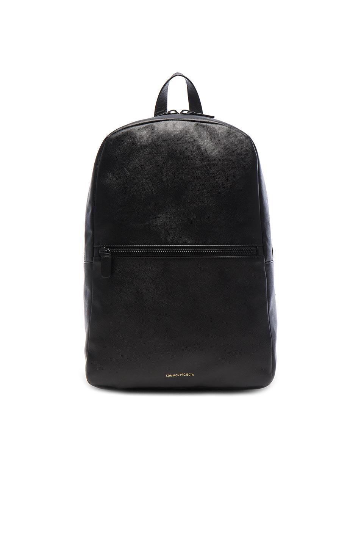 Soft Leather Backpack - Black