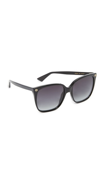 57Mm Square Sunglasses - Black/ Grey in Black/Grey