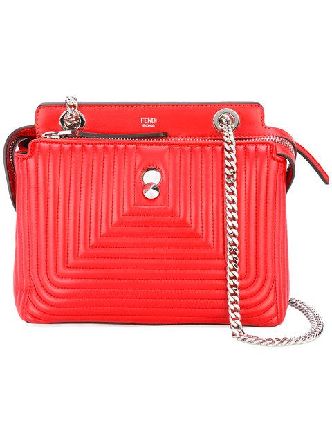 Fendi Dotcom Click Shoulder Bag - Red