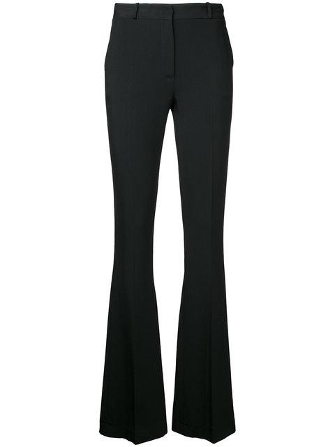 CAPUCCI Capucci Flared Fitted Trousers - Black
