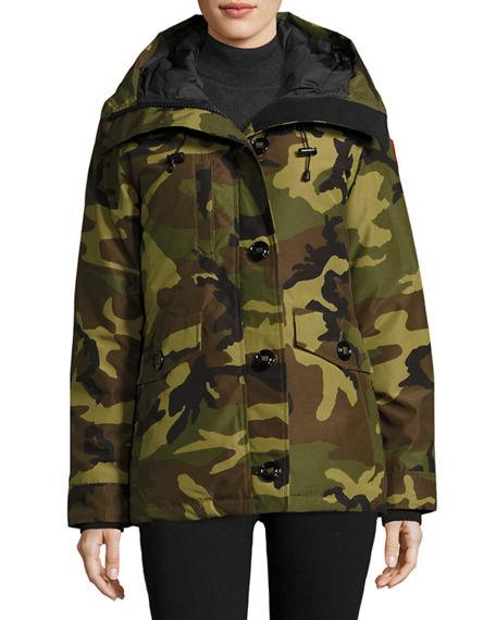 Rideau Camouflage Parka Jacket, Green, S