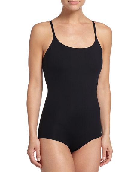 Thinstincts Light Tummy-Control Elastic-Free Bodysuit 10010R in Black