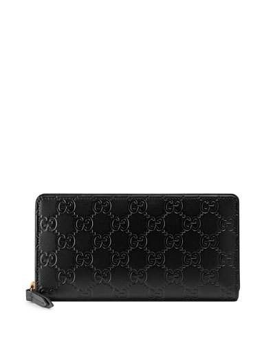 Signature Continental Wallet in Black
