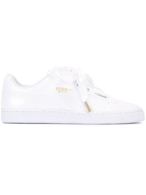 Puma Lace-Up Low Top Sneakers - White