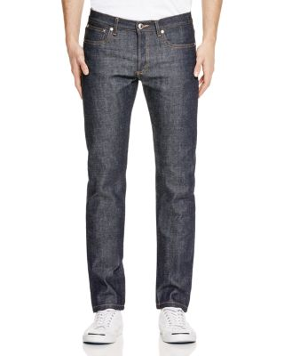 New Standard Slim Straight Leg Raw Selvedge Jeans, Indigo