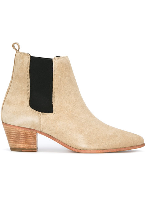 Woman Yvette Suede Ankle Boots Beige from IRO