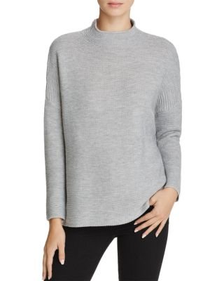 KNOT SISTERS Scotland Mock Neck Sweater in Heather Grey