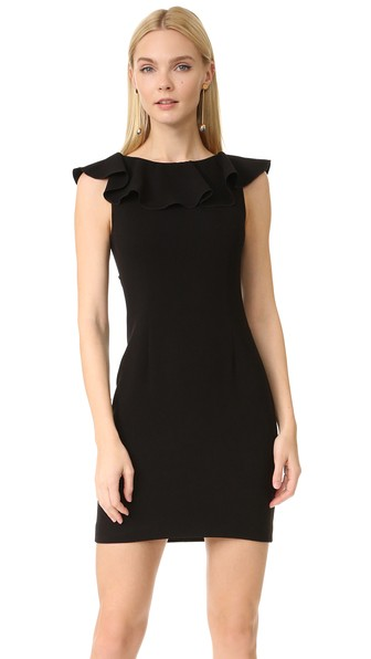 Rachel Zoe Woman Deandrea Lace-paneled Ruffled Crepe Mini Dress Black Size 6 Rachel Zoe gcFR4