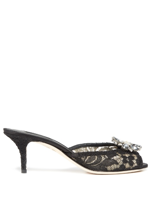 Dolce & Gabbana Crystal embellished mules Low Price Fee Shipping For Sale MWuCQSZ