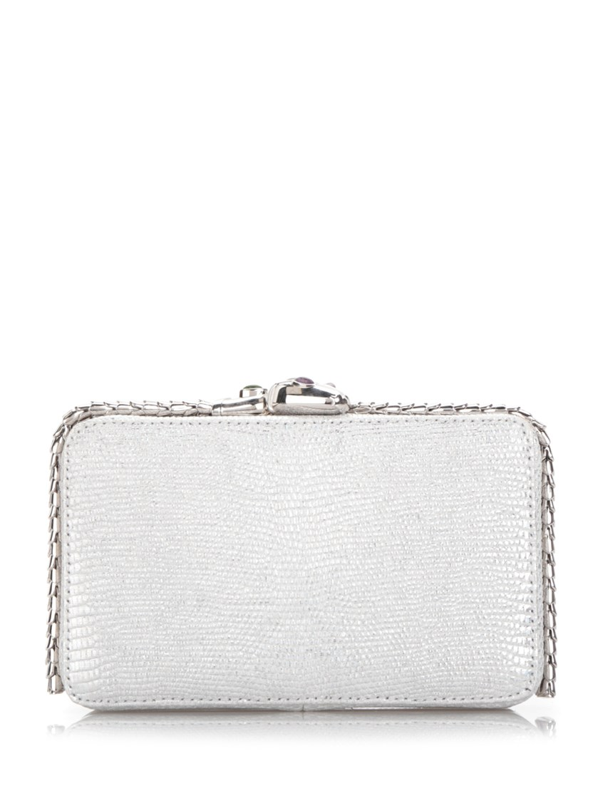 Bulgari 'Bulgari Cocktail' Clutch, Silver