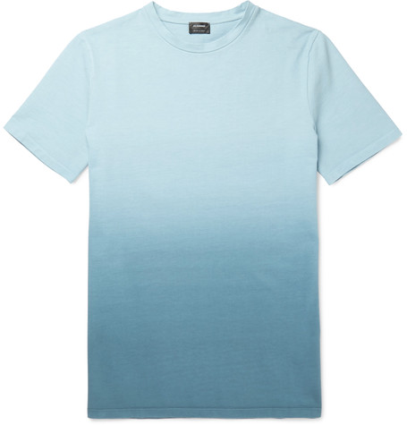 JIL SANDER Dégradé Cotton-Jersey T-Shirt