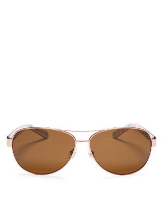 a9d60c7da9 KATE SPADE.  Dalia  58Mm Polarized Aviator Sunglasses - Gold Havana ...