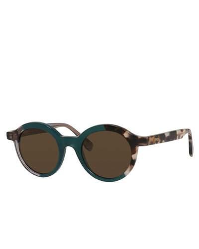 FENDI Round Two-Tone Sunglasses in Blue