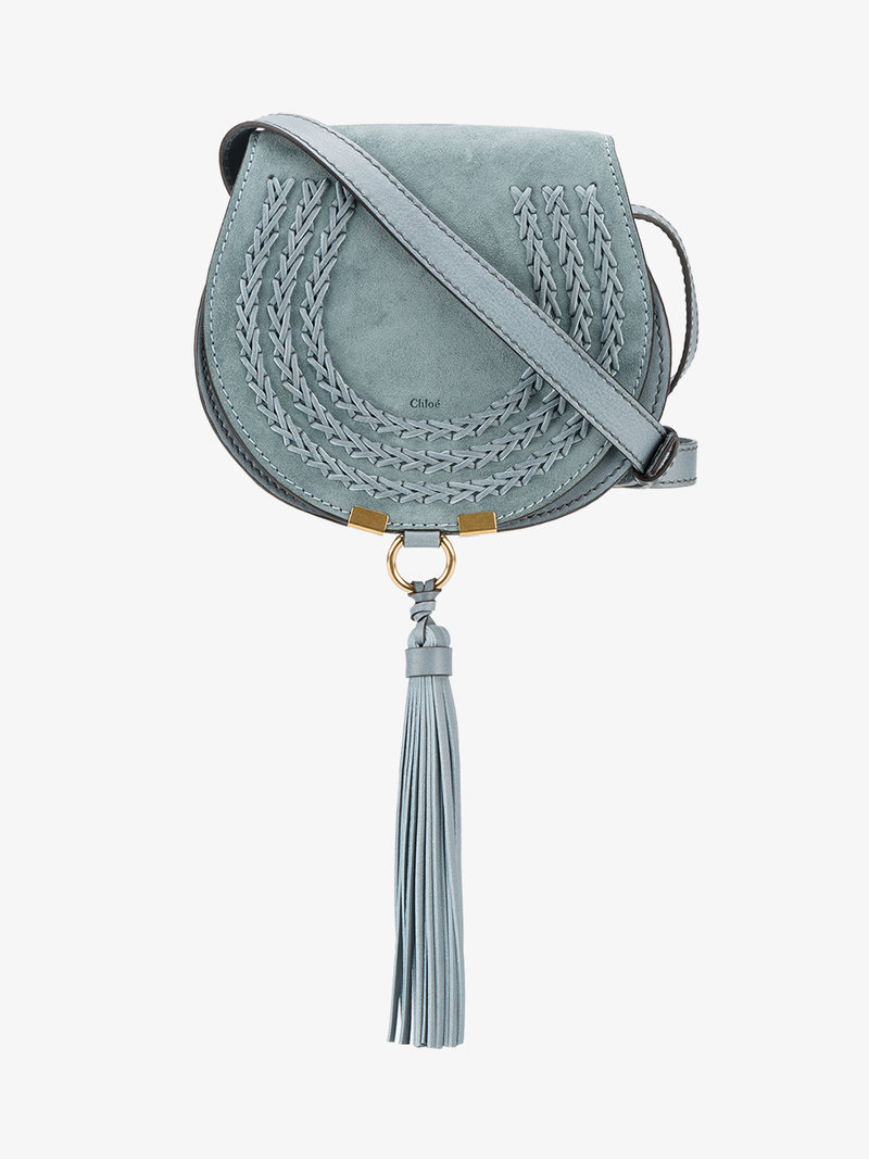'Marcie - Small' Leather Crossbody Bag, Rainy Blue
