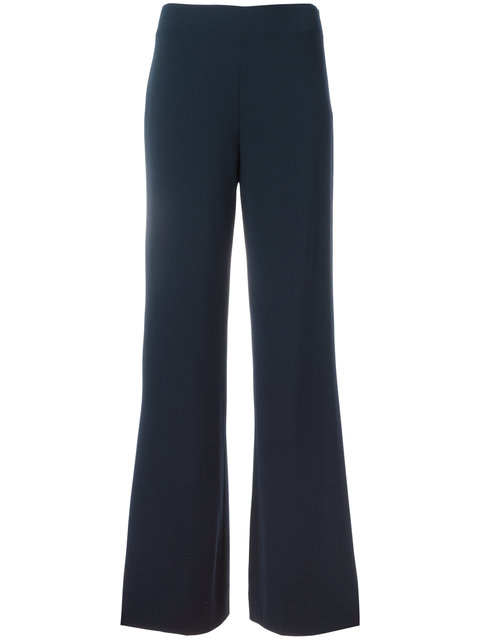 Preston Wide-Leg High-Waisted Pants in Blue