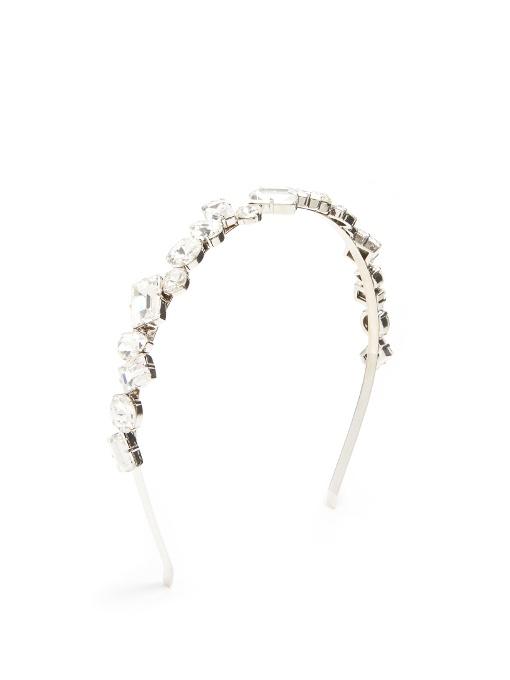 Miu Miu Crystal-Embellished Headband, Na