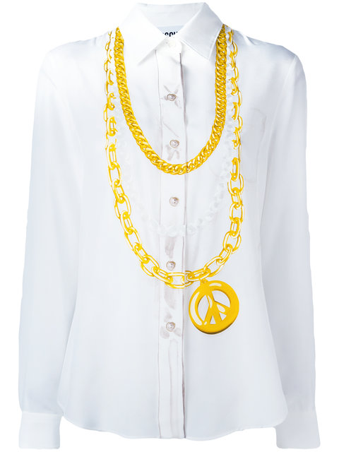 Moschino Medallion Print Shirt - White