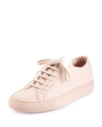 Original Achilles Low Pink Leather Sneakers, Blush